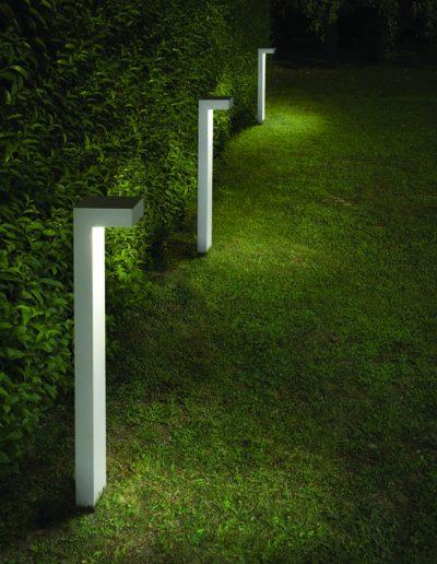 bornes lumineuses extérieure, jardin à Caen (Calvados)